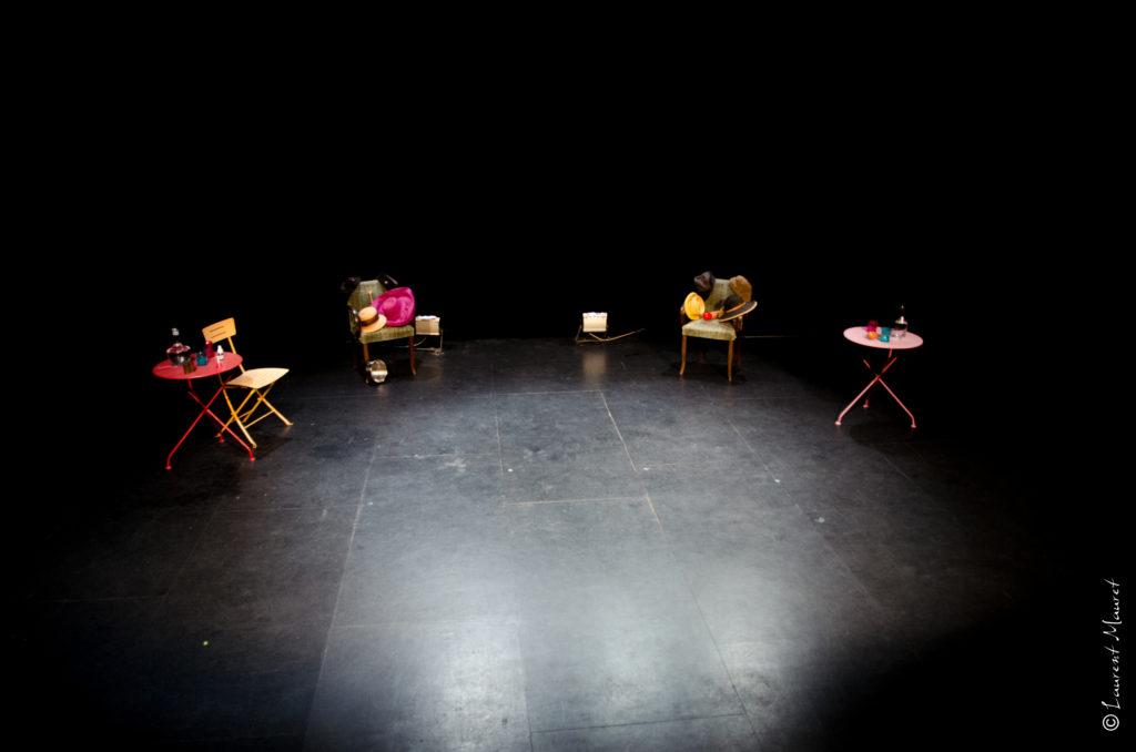 la scène du chok théâtre par Laurent Mauret